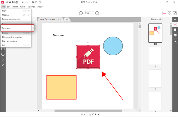 Save your PDF file