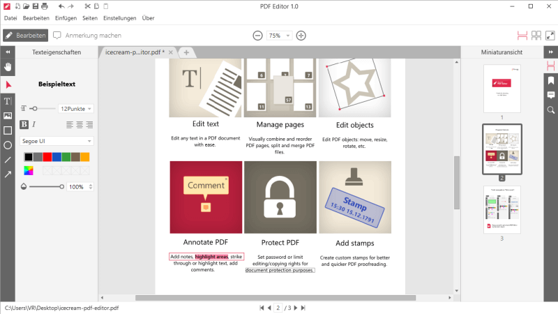 Icecream PDF Editor