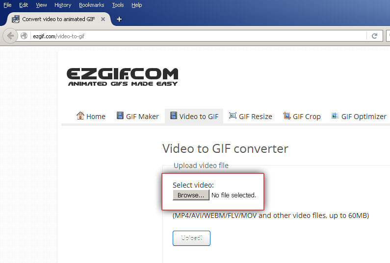 EZGIF: Select video file