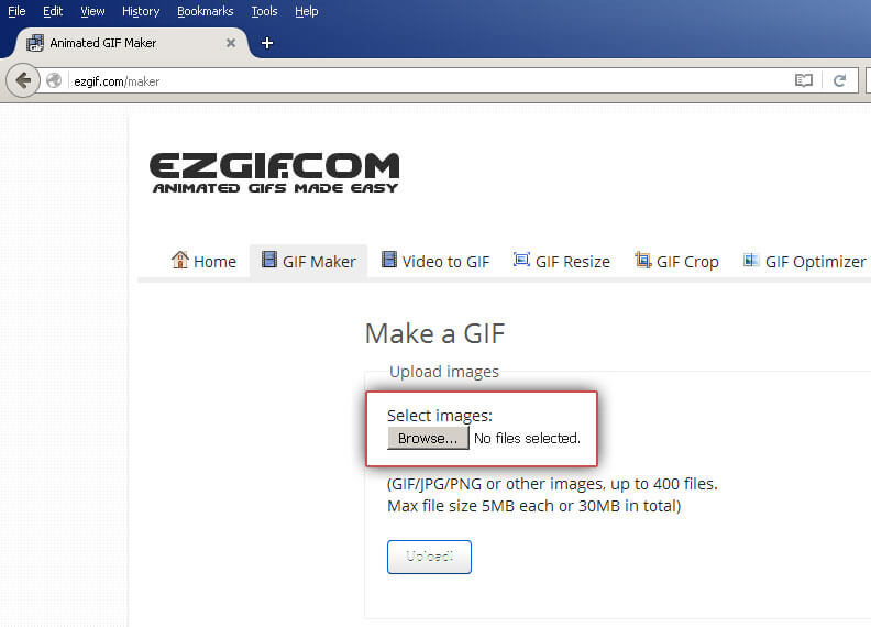 EZGIF: Add images