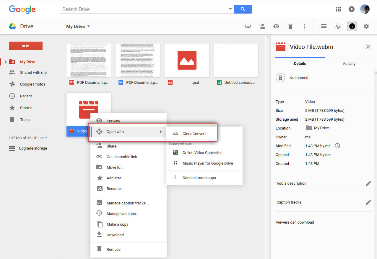 How To Convert Videos With Google Drive For Free Icecream Tech Digest