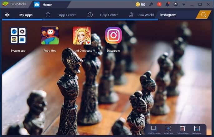 Screenshot of Bluestacks Apps