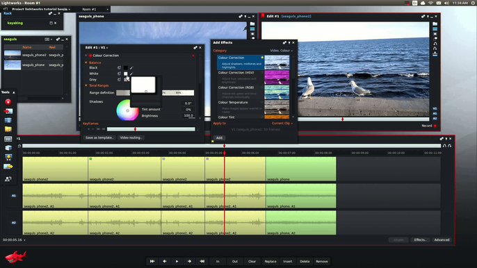 how to cut some audio track in lightworks
