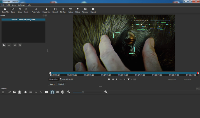 Shotcut open source video editor
