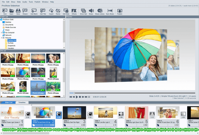 Proshow Gold slideshow software