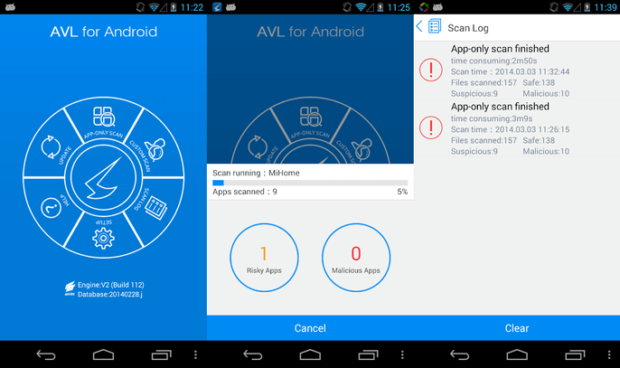 AVL antivirus for Android