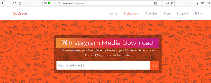Download Instagram video on a PC: Step 1