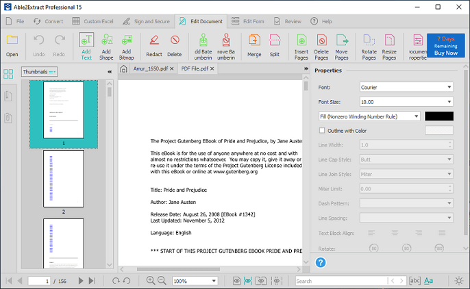 Able2Extract pdf editor
