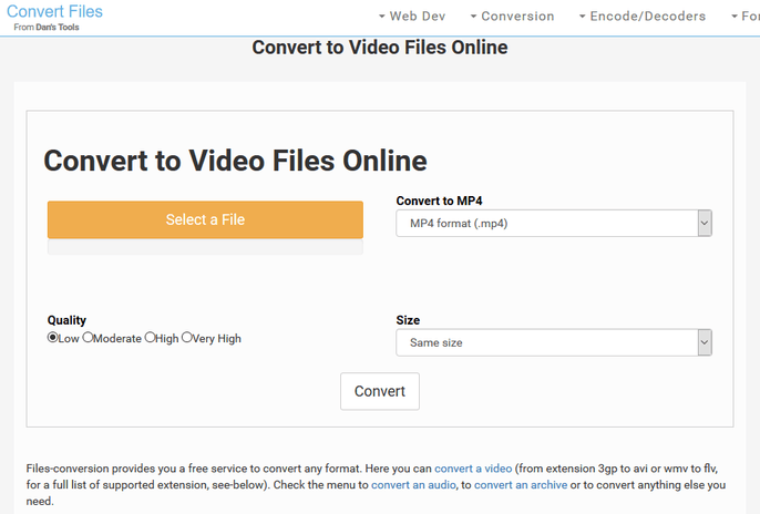 Convert to Video Files Online