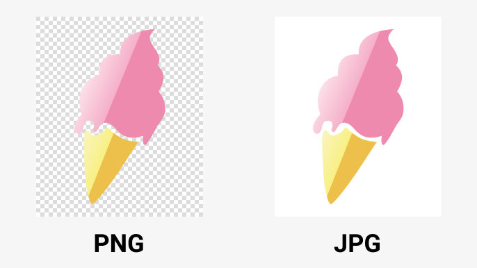 PNG vs JPG - transparency