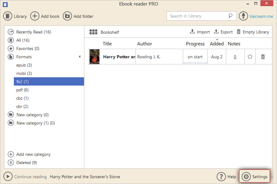 Open FB2 Files with FB2 reader - Icecream Apps