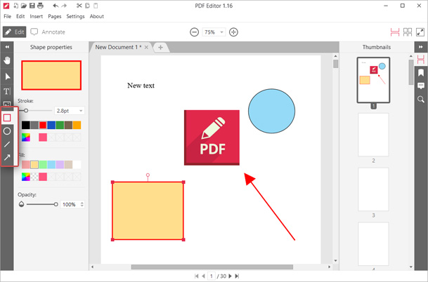 Add graphic elements to PDF