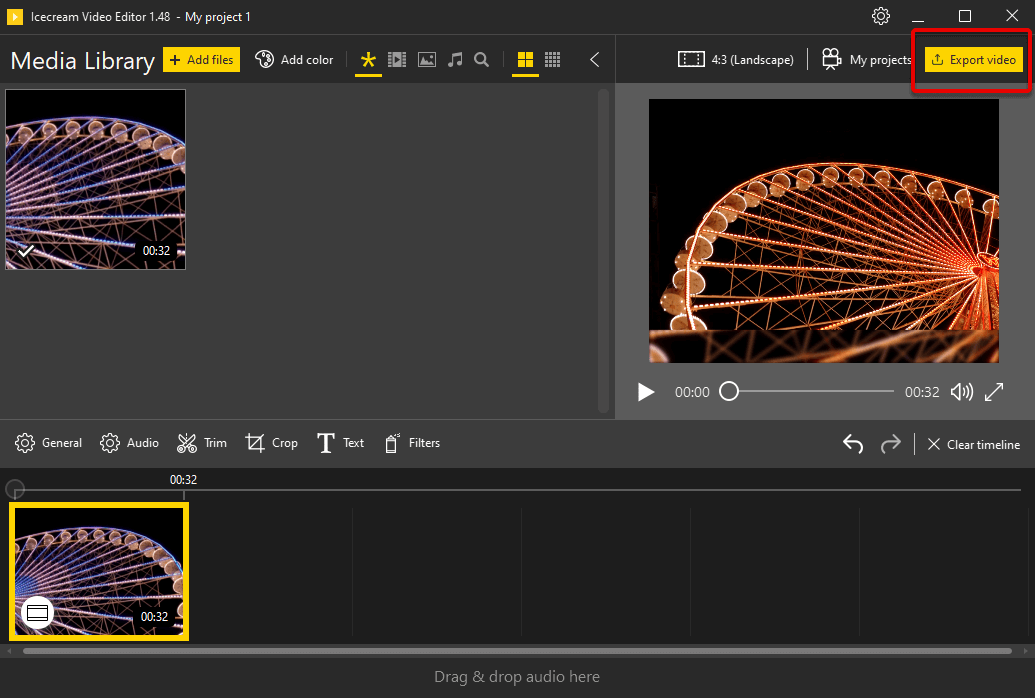 Export flipped video