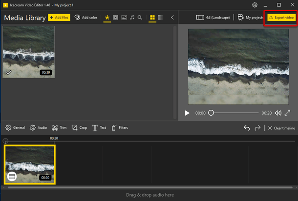 Create video with altered speed
