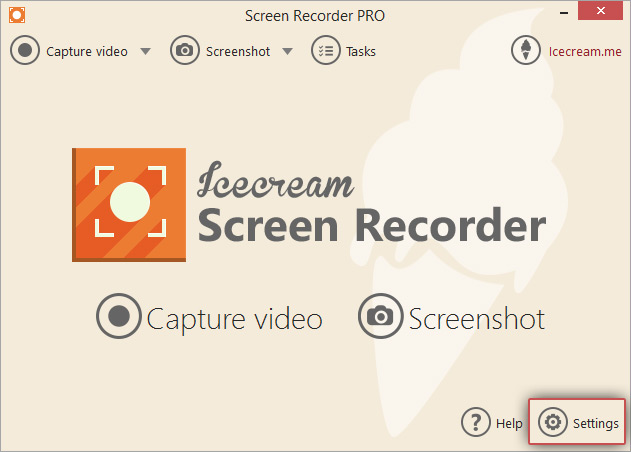 Change Recording Settings with Screen Recorder - Icecream Apps