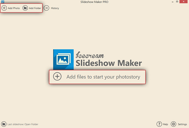 Add photos to photo video maker