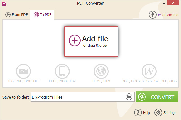 Convert DOCX to PDF with DOCX to PDF Converter - Icecream Apps