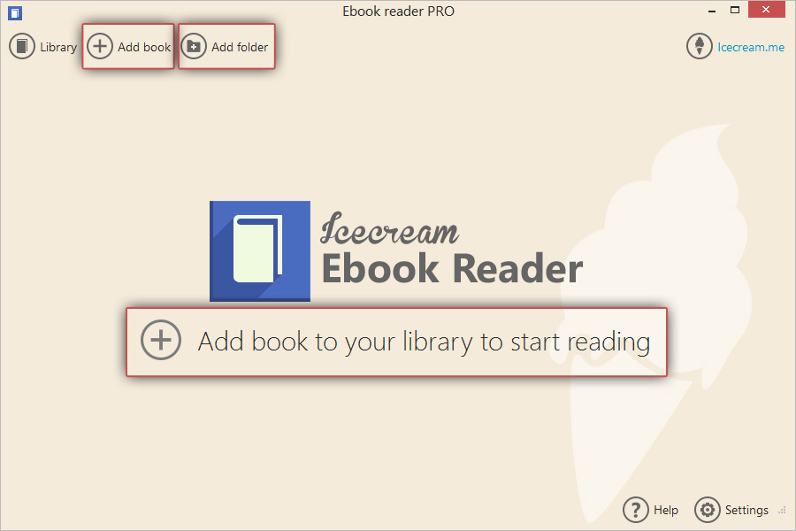 Open EPUB Files with EPUB reader - Icecream Apps