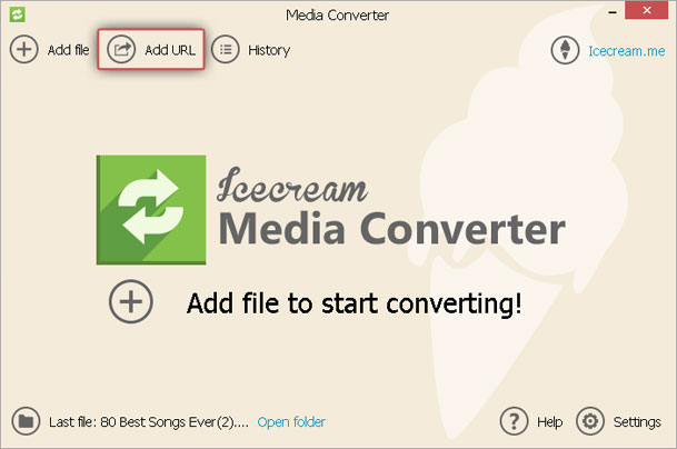 Convert URL to MP3 with URL to MP3 converter - Icecream Apps