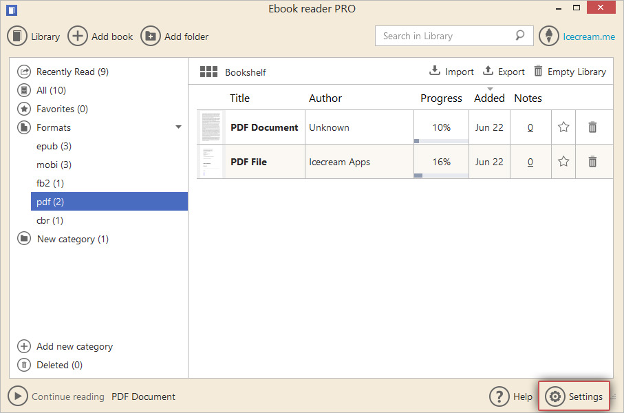 Open pdf files with pdf reader icecream apps the full guide for the options offered in the settings panel is described in this guide here how to change icecream ebook reader settings pdf reader fandeluxe Gallery