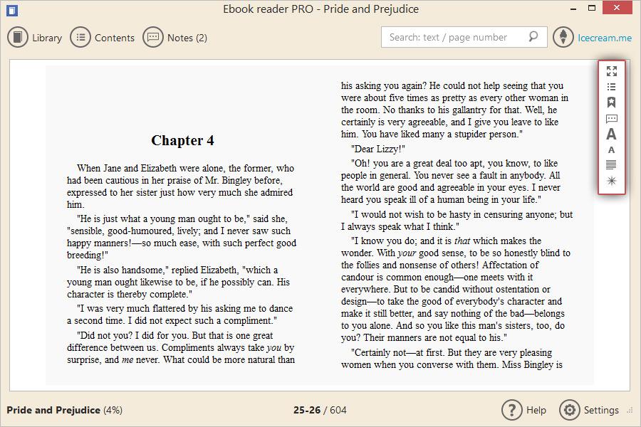 Read ebooks on pc with ebook reader icecream apps ebook reader fandeluxe Epub