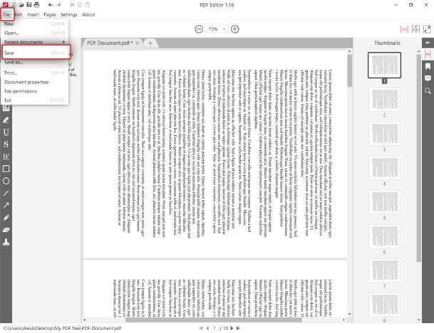 Save the PDF after pages rotation