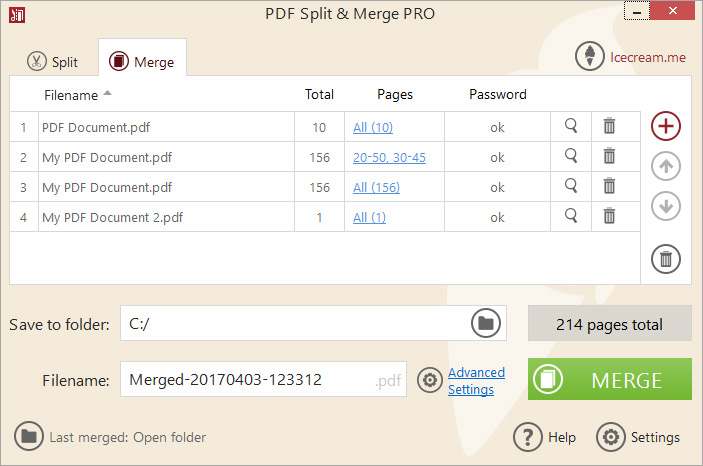 PDF Split & Merge: split PDF or/and merge PDF files
