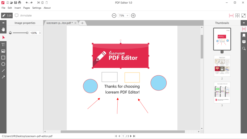 PDF Editor: edit PDF documents with ease - Icecream Apps